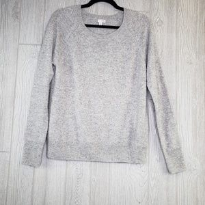 Halogen Cashmere Light Grey Long Sleeve Sweater